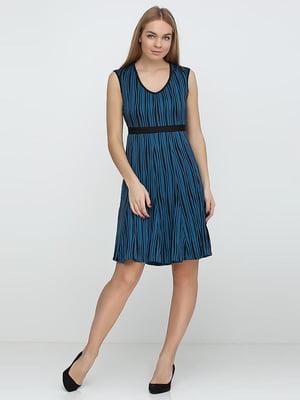 Платье черно-бирюзовое | 5308633