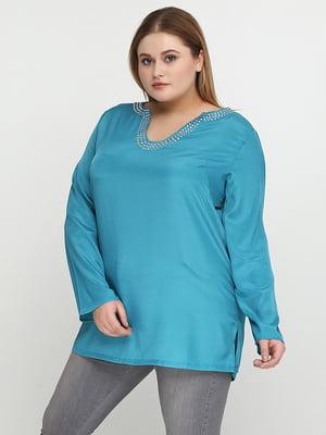 Блуза бирюзовая | 5308678