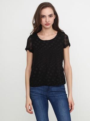 Блуза черная в горох | 5308696