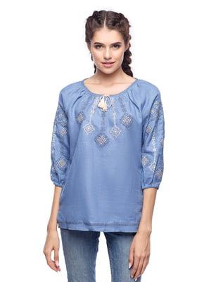 Блуза блакитна | 5308747