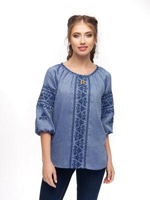 Блуза блакитна | 5308750