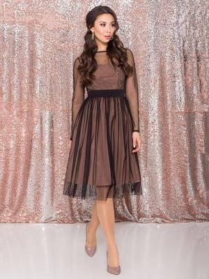 Платье черно-золотистое | 5308901