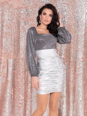 Платье серебристое | 5308881