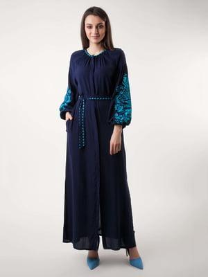 Платье синее | 4235530