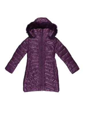 Пуховик темно-фіолетовий | 5305885