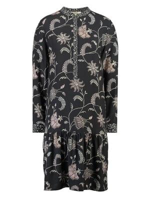 Сукня чорна з принтом | 5311080