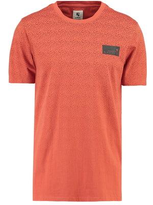 Футболка помаранчева з принтом   5311085