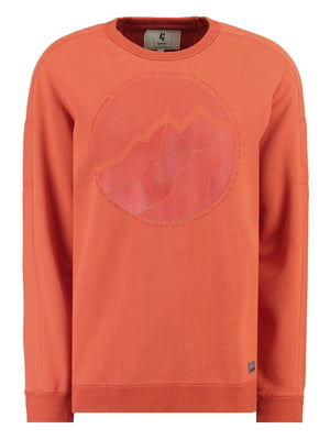 Свитшот оранжевый с принтом | 5311096