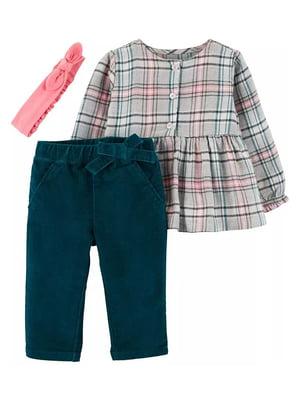 Комплект: блуза, брюки и повязка   5311253
