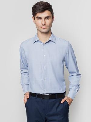 Рубашка синяя в узор | 5309485
