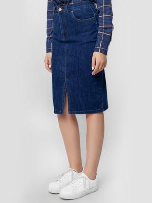 Юбка синяя джинсовая | 5309512