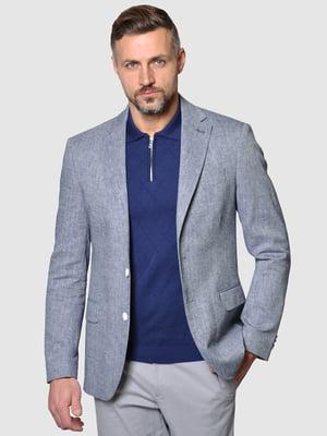 Пиджак сине-белый | 5309618