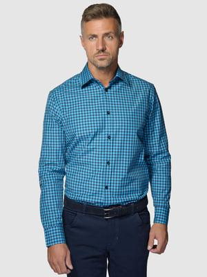 Рубашка синяя в клетку | 5309677