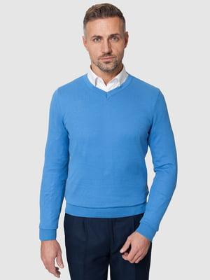 Пуловер голубой | 5309727
