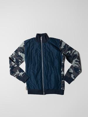 Куртка синяя с камуфляжным принтом | 5310241