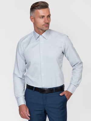 Рубашка голубая с узором | 5310390
