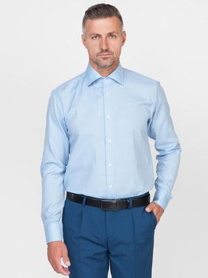 Рубашка голубая в узор   5310402
