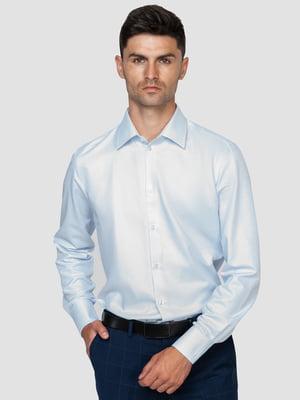 Рубашка голубая с узором | 5310410