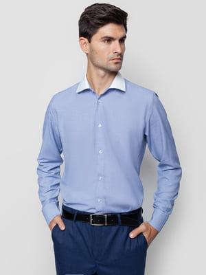 Рубашка голубая в узор | 5310413