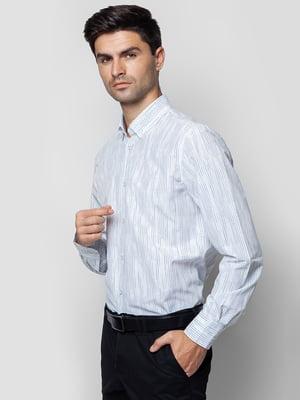Сорочка біла з принтом | 5310418