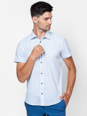 Рубашка белая в мелкий принт | 5310517