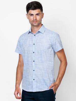 Рубашка бело-синяя | 5310518