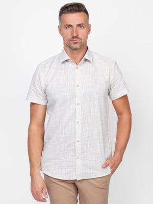 Сорочка біло-бежева | 5310520