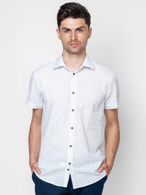 Рубашка белая с принтом | 5310524