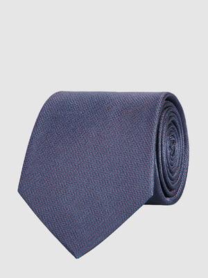 Галстук синий с узором | 5310569