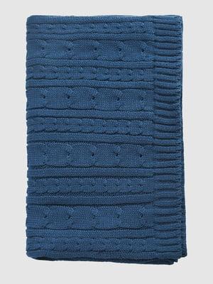 Шарф синий с узором | 5310680