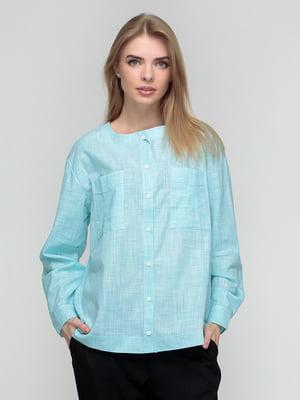 Рубашка мятного цвета в клетку | 5310750