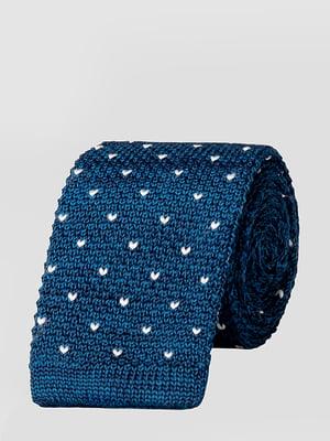 Краватка синя з принтом | 5310759