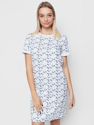 Сукня біла з принтом | 5310774