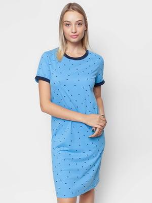 Сукня блакитна в горох | 5310775