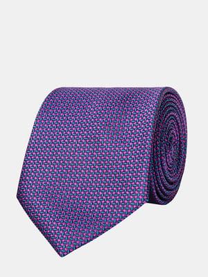 Галстук фиолетовый с узором | 5310816