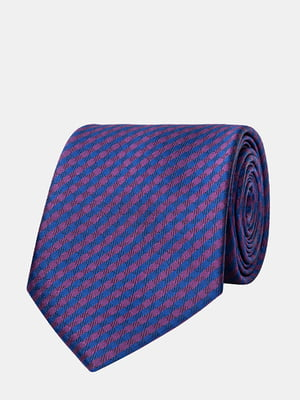 Галстук сине-фиолетовый в полоску | 5310817
