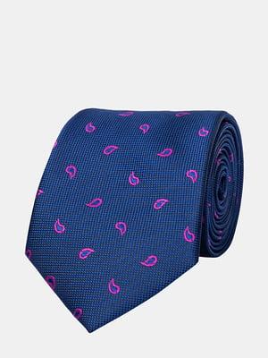 Краватка синя з візерунком | 5310825