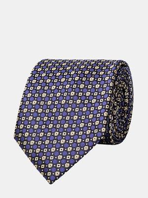 Краватка блакитна з візерунком | 5310827