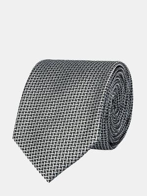 Галстук серый с узором | 5310829