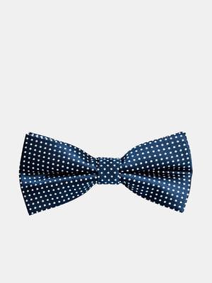 Краватка-метелик синя в горох | 5310831