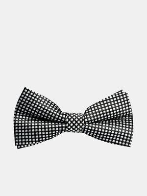 Краватка-метелик чорна з візерунком | 5310833