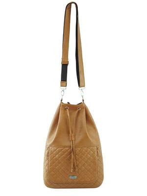 Сумка-рюкзак світло-коричнева | 4021933