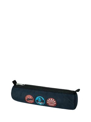Пенал-косметичка темно-синій з принтом | 5311563