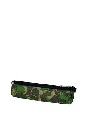 Пенал-косметичка зеленый с принтом | 5311564