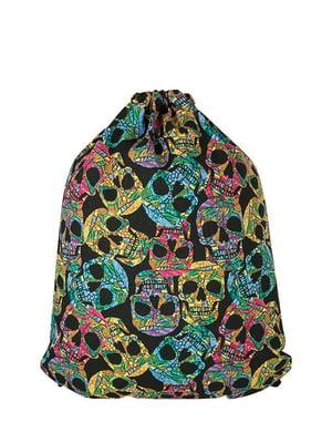 Рюкзак черный с принтом | 5311591