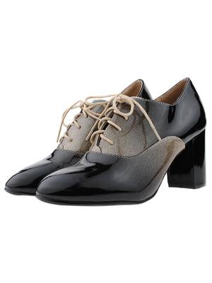 Туфлі чорно-золотисті   5312826