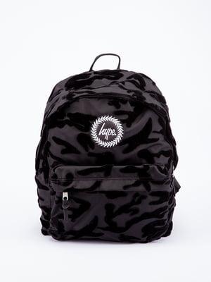 Рюкзак чорний в принт | 5314325