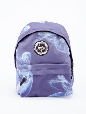 Рюкзак синій в принт | 5314329