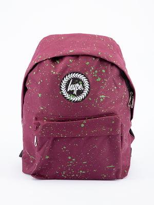 Рюкзак бордовый в принт | 5314339