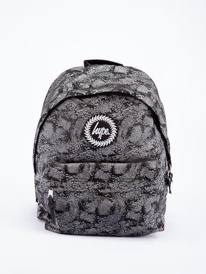 Рюкзак сірий в принт | 5314370